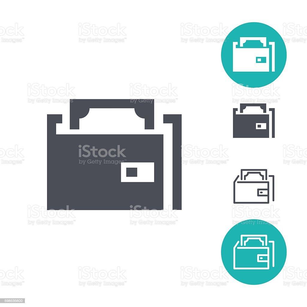 Icônes de portefeuille icônes de portefeuille – cliparts vectoriels et plus d'images de acheter libre de droits
