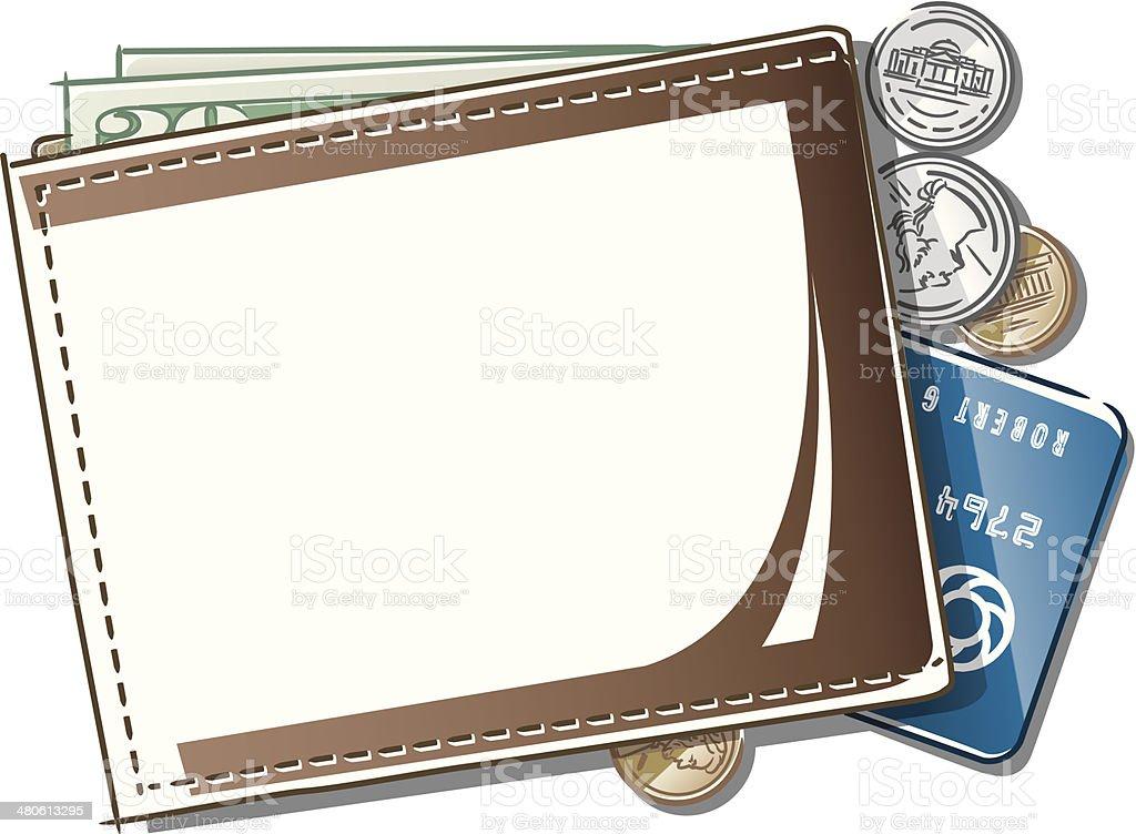 Wallet Mortice C vector art illustration