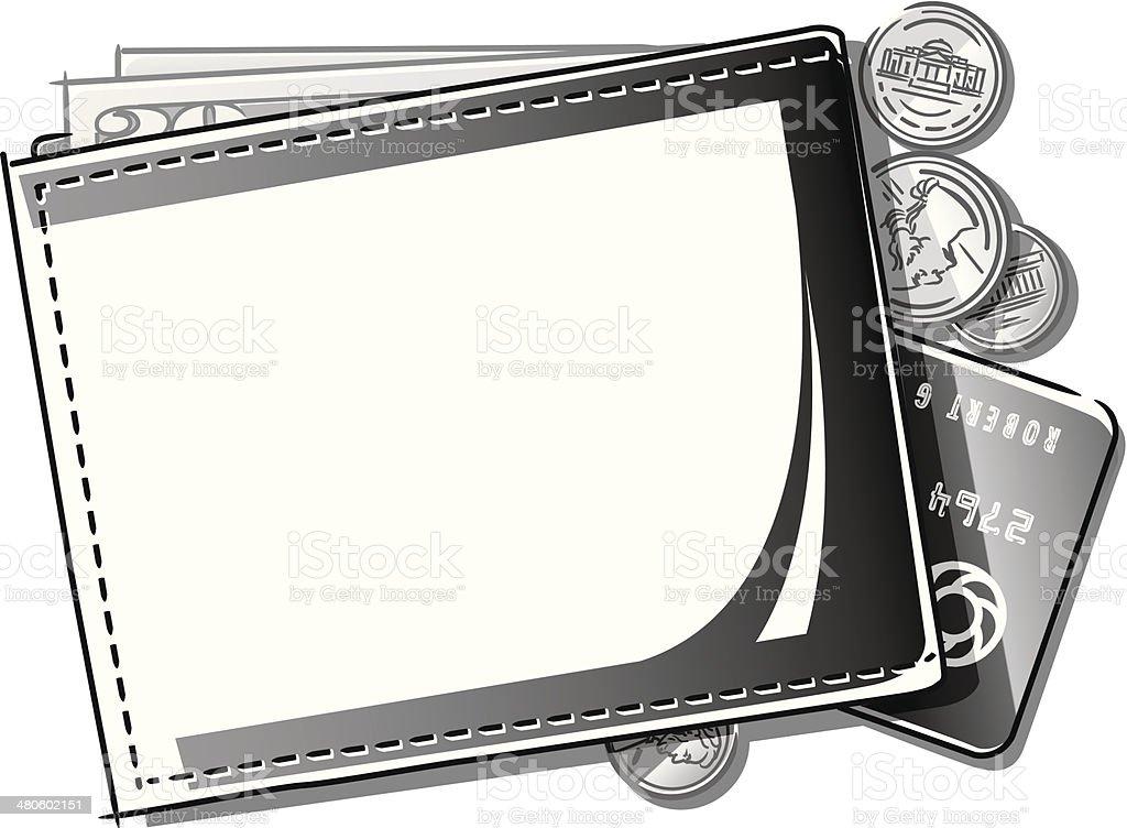 Wallet Mortice vector art illustration