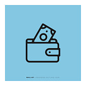 istock Wallet Rounded Line Icon 1085644582
