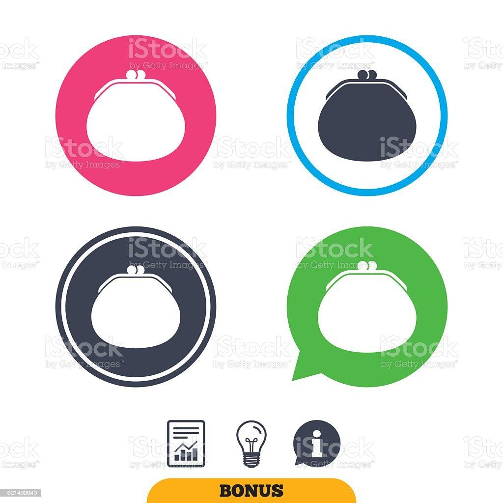 Portafoglio di icona. Borsa di soldi simbolo. portafoglio di icona borsa di soldi simbolo - immagini vettoriali stock e altre immagini di accessorio personale royalty-free