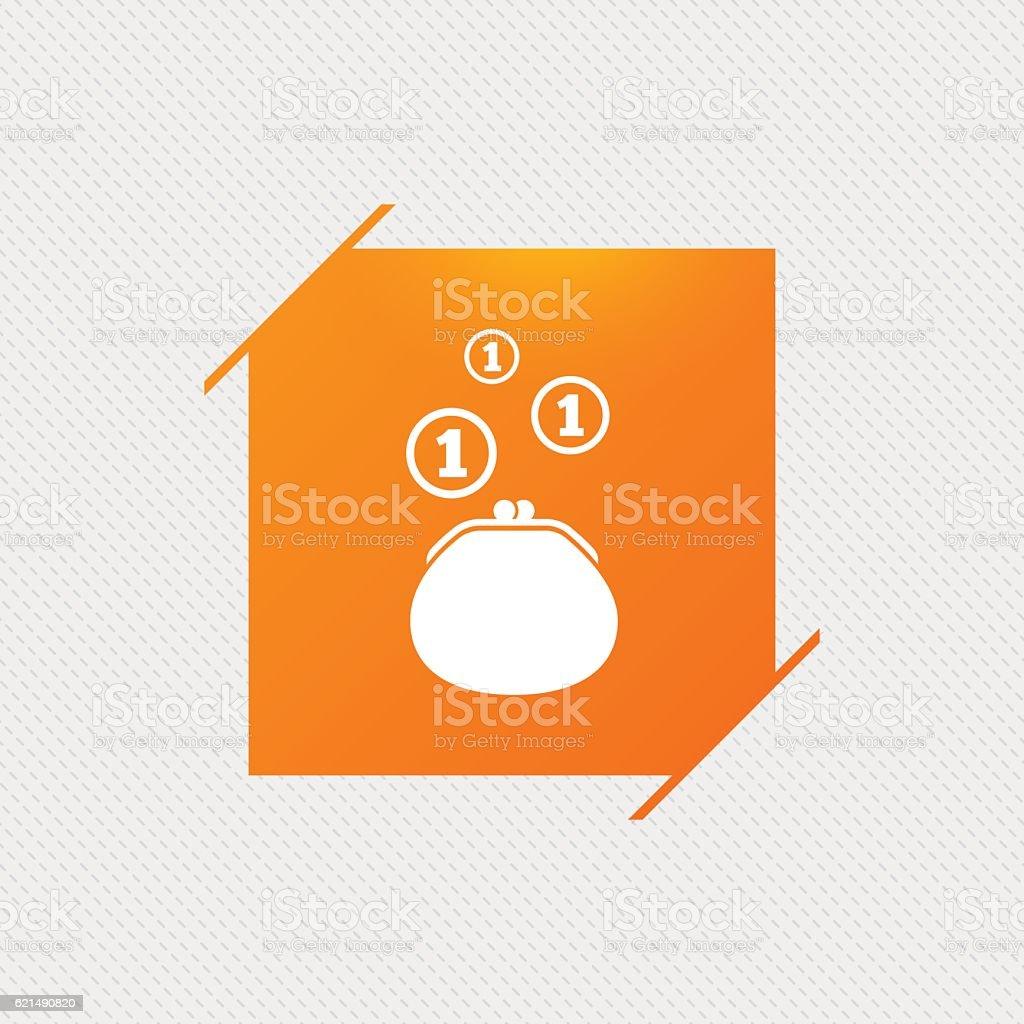 Portefeuille signe icône. Argent pièces de monnaie symbole sac. portefeuille signe icône argent pièces de monnaie symbole sac – cliparts vectoriels et plus d'images de accessoire libre de droits