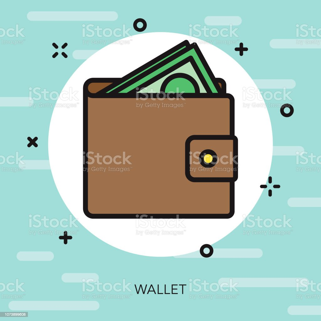 Wallet Thin Line Interface Icon vector art illustration