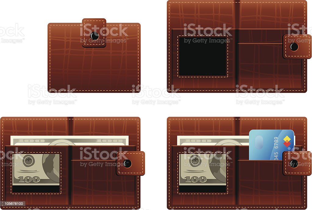 Wallet royalty-free wallet stock vector art & more images of american one hundred dollar bill
