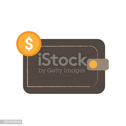 istock Wallet with money. 1324676340