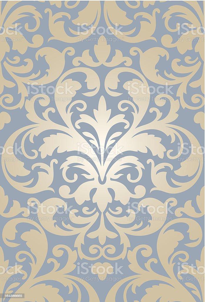 Wallpaper Barock edel royalty-free stock vector art