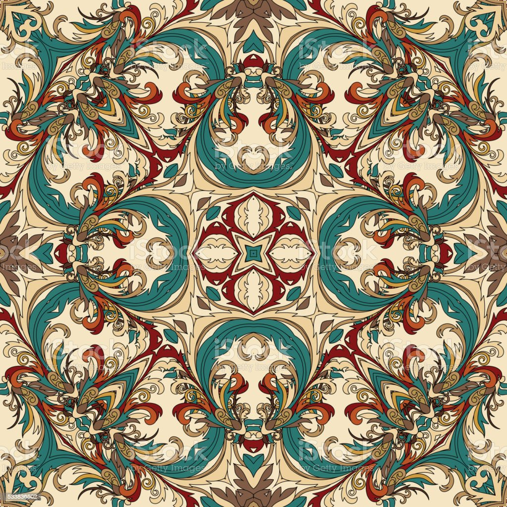 Wallpaper in the style of baroque a seamless vector for Baroque style wallpaper
