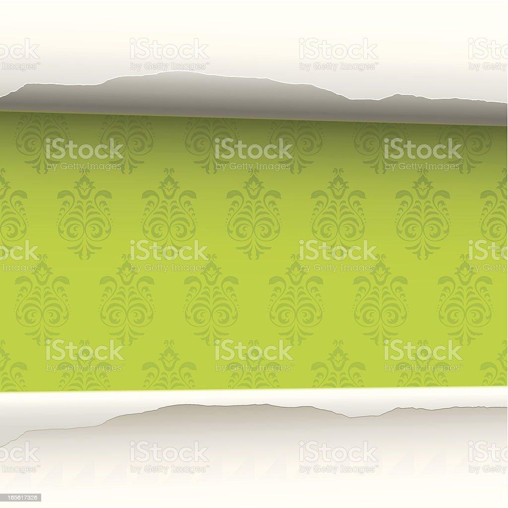 Wallpaper revealed background royalty-free stock vector art