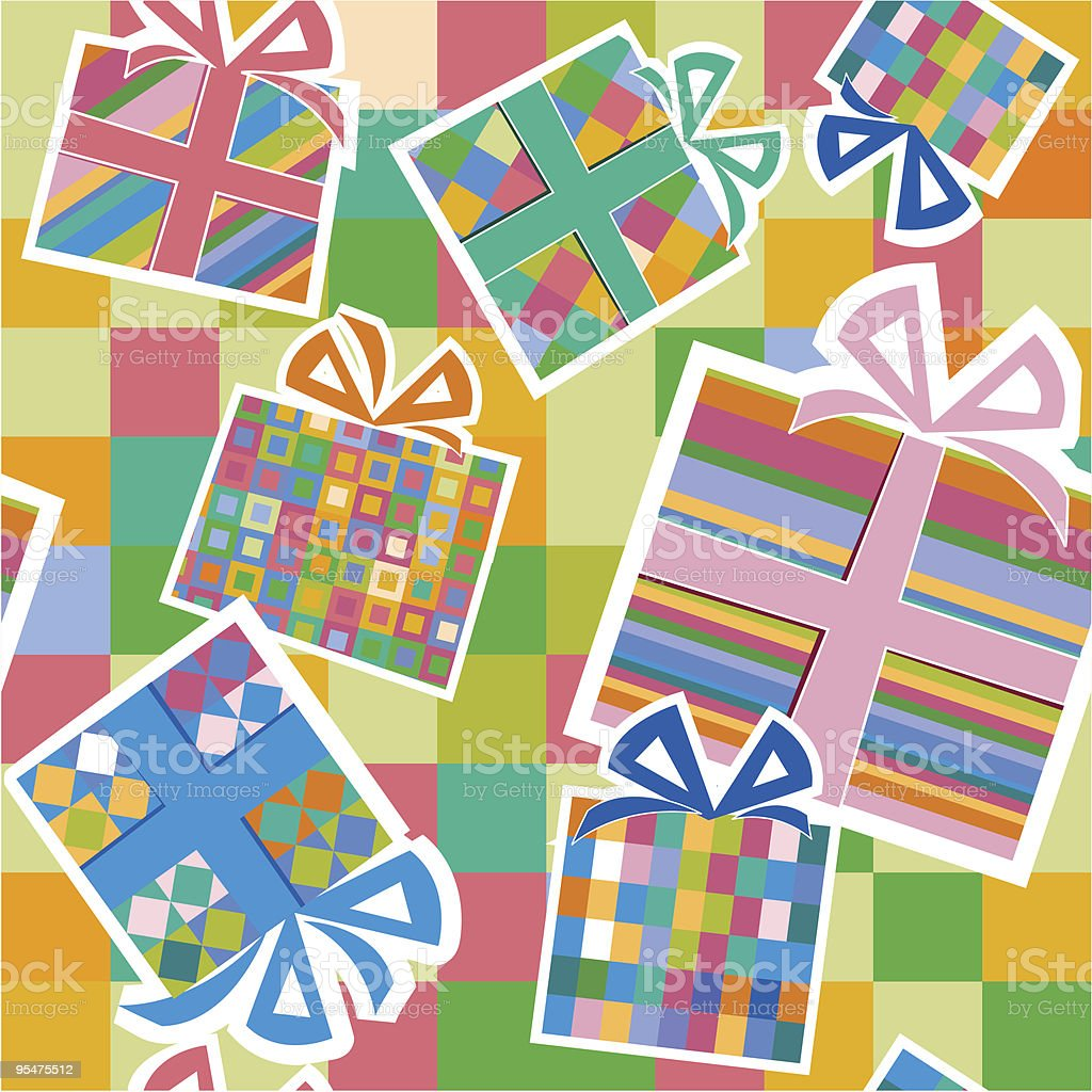 Wallpaper with gift boxes royalty-free wallpaper with gift boxes stock vector art & more images of backgrounds