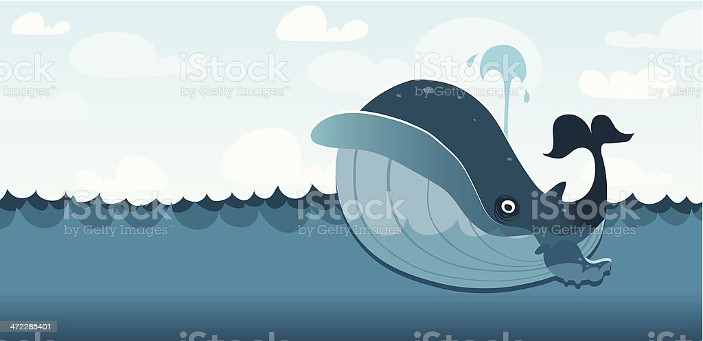 Wally the Whale - ilustración de arte vectorial