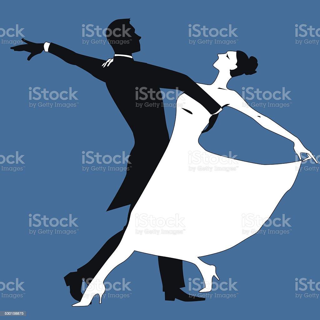 Waltz vector art illustration