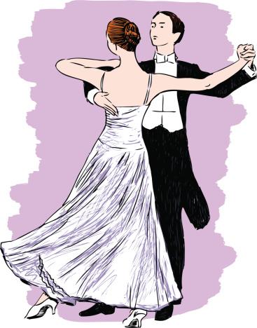 Waltzing couple