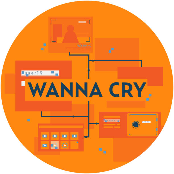 wannacry hack vector image