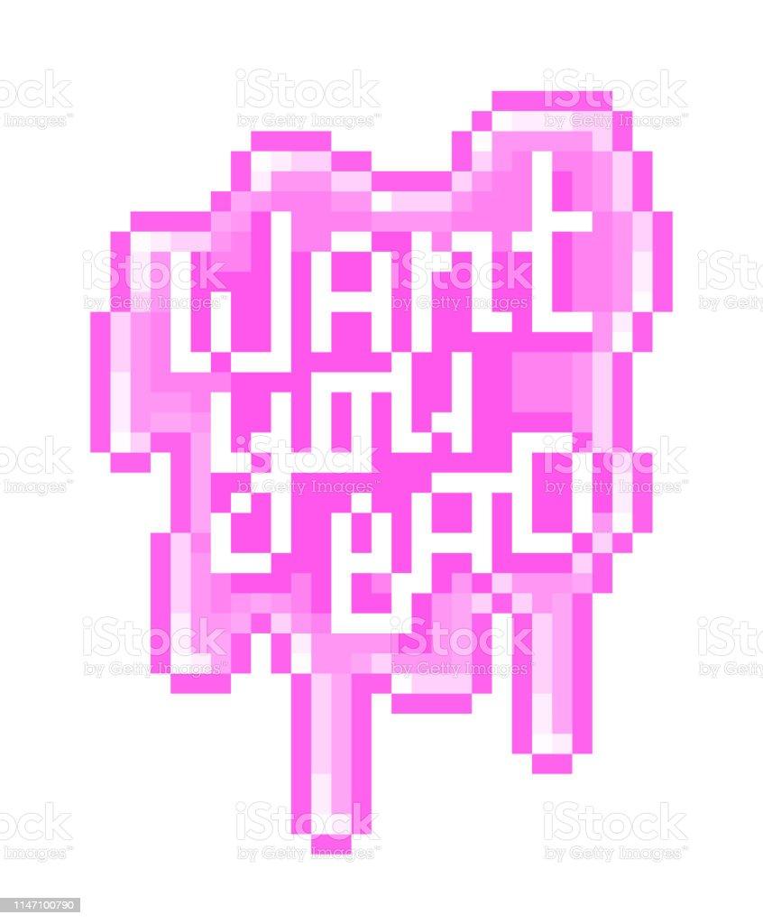 Vous Voulez Mal Pixel Art Lettrage Sur éclaboussure De Boue