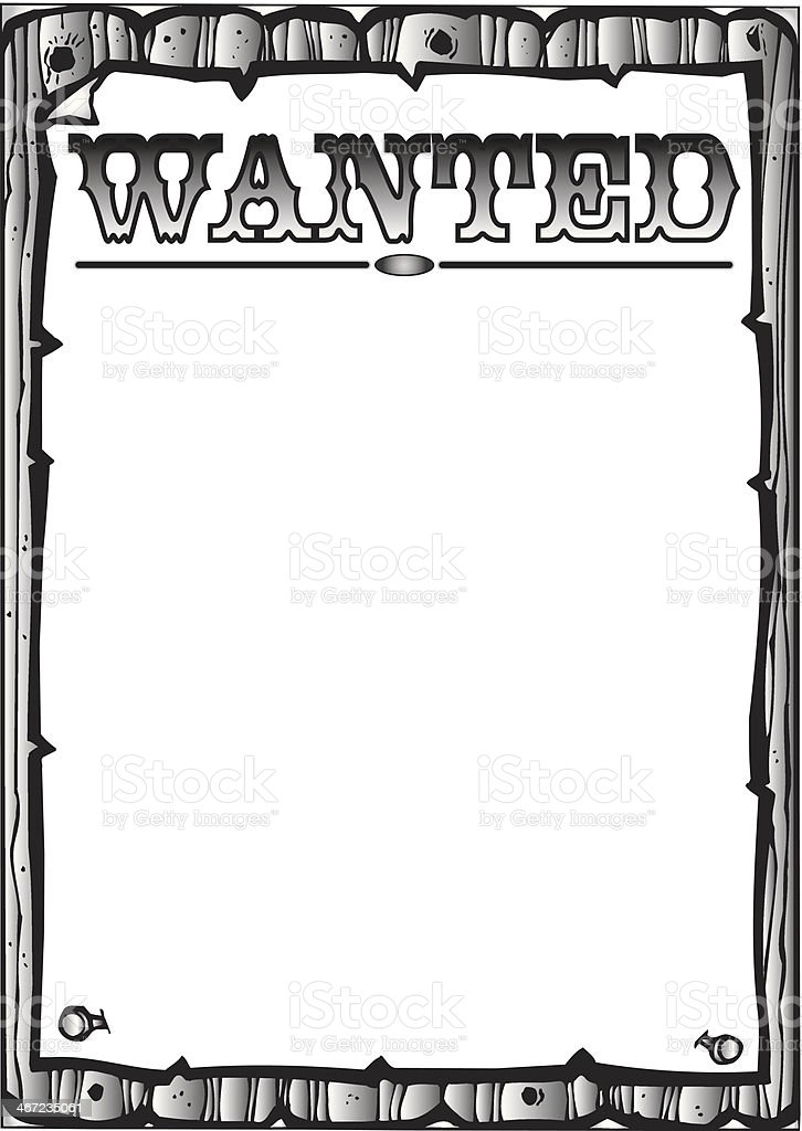 Wanted Frame Stock Vector Art & More Images of Business 467235061 ...