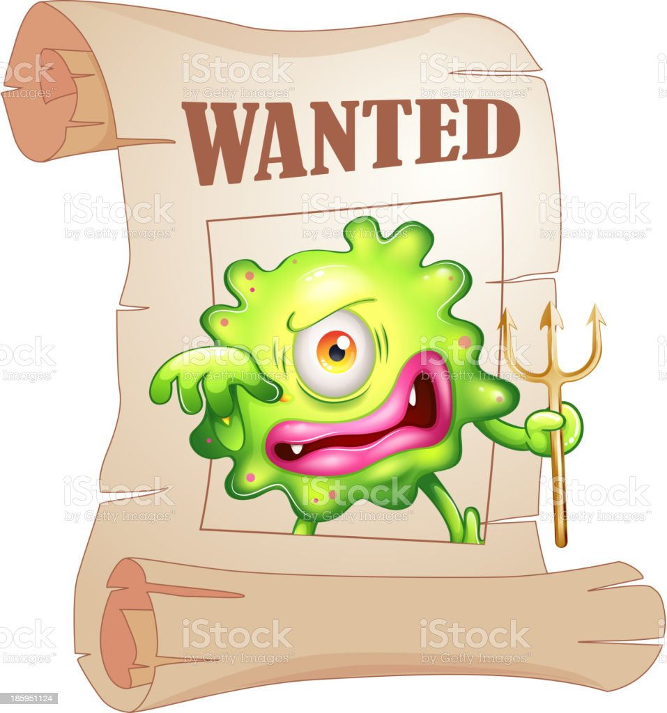 wanted monster royalty-free stock vector art