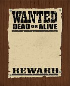 Wanted Poster - Dead or Alive, Reward Background