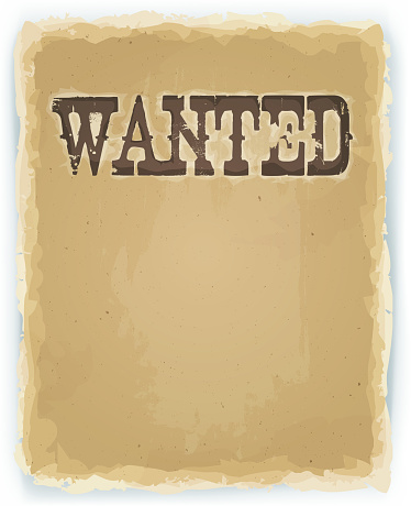 Wanted Poster On Vintage Background