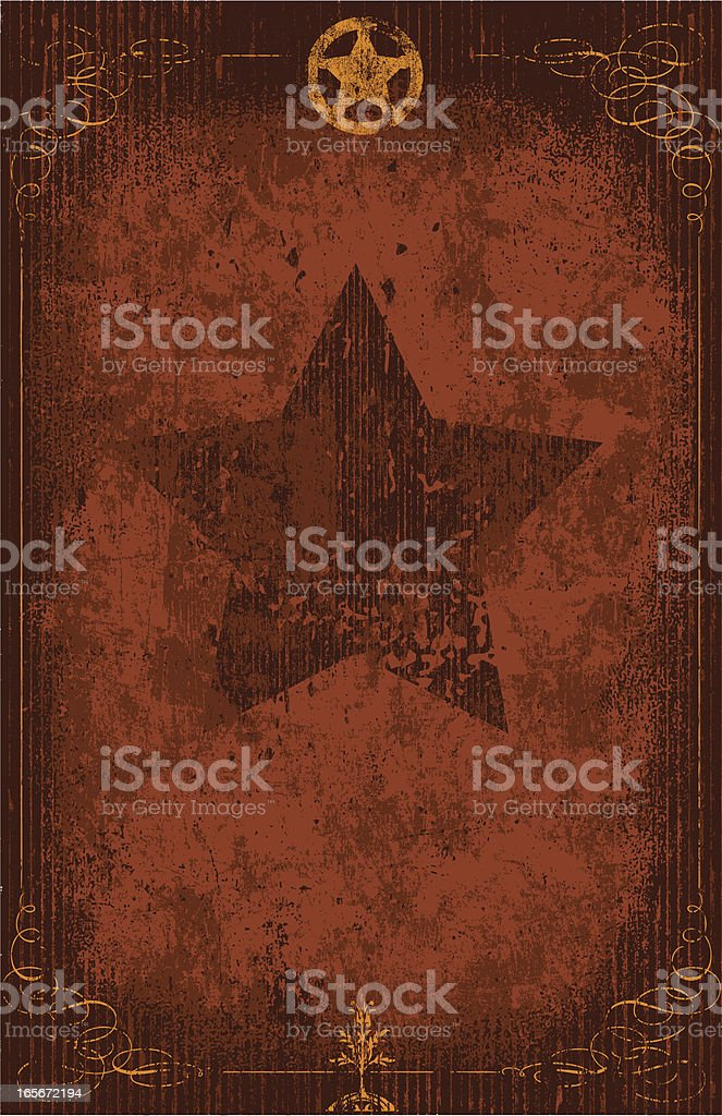 Wanted Poster - Rusted Metal Sign royalty-free stock vector art