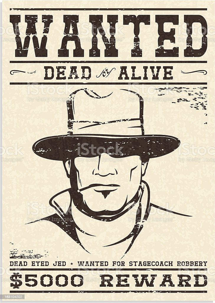 Wanted Poster royalty-free wanted poster stock vector art & more images of aggression
