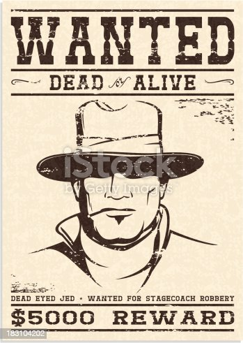 istock Wanted Poster 183104202