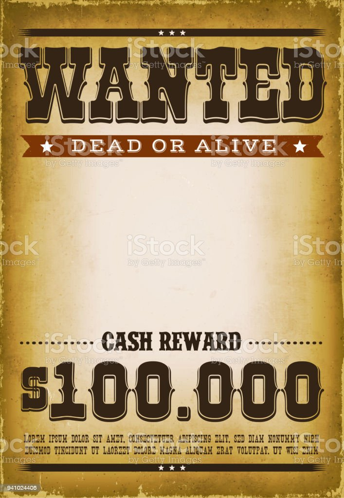 Wanted Western Poster Background Stock Illustration Download Image Now Istock