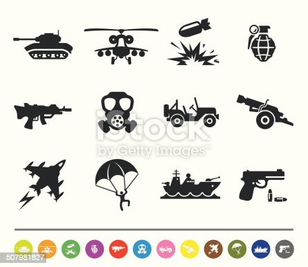 istock War and army icons | siprocon collection 507981827