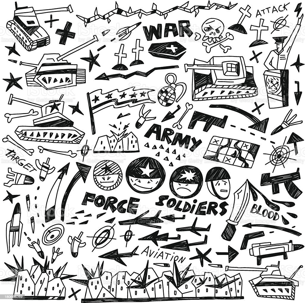 war - doodles collection royalty-free war doodles collection stock vector art & more images of accidents and disasters