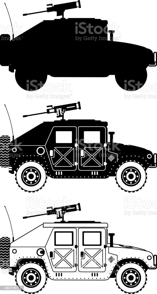 war humvee military icons royalty-free stock vector art