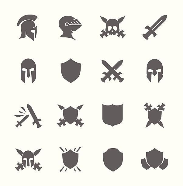 war icons - sword stock illustrations