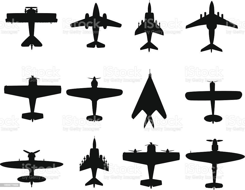 War plane vector art illustration