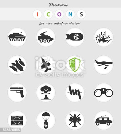 War Symbols Icon Set Stock Vector Art & More Images of 4x4 ...