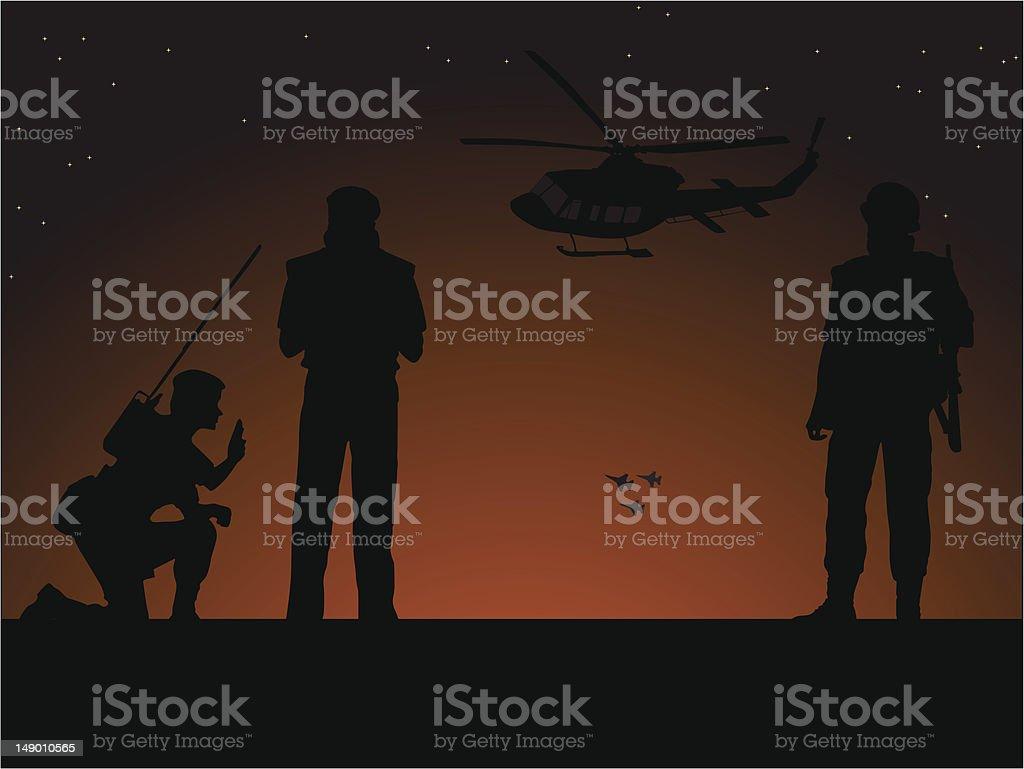 War vector art illustration