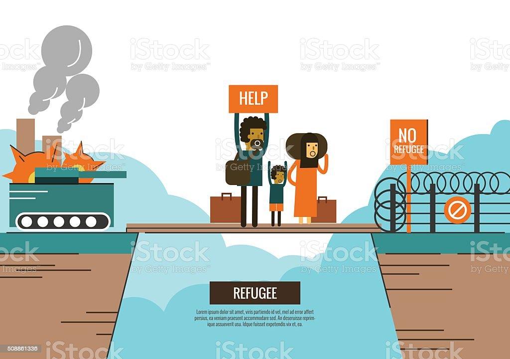 war victims concept. vector art illustration