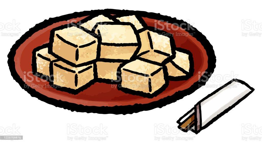 ワラビ餅 おやつのベクターアート素材や画像を多数ご用意 Istock