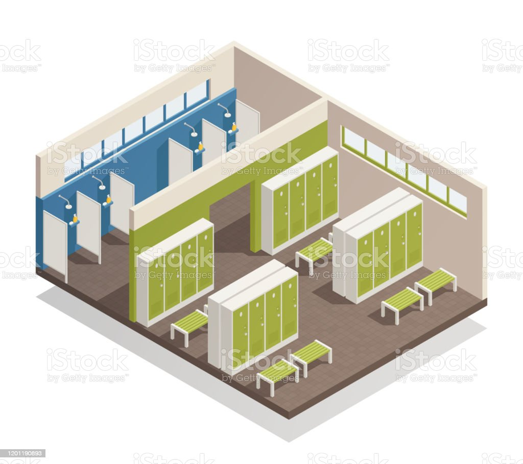 Wardrobe Cloakroom Dressing Room Isometric Composition Stock Illustration Download Image Now Istock