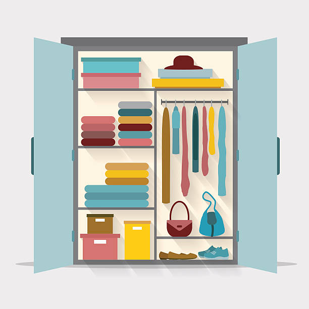 Open Cupboard Clip Art: Best Closet Illustrations, Royalty-Free Vector Graphics