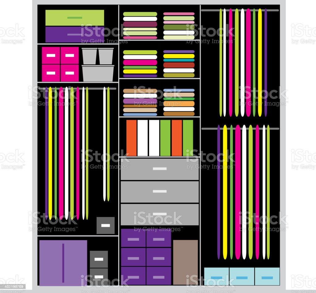 Wardrobe inside, illustration for your design royalty-free stock vector art