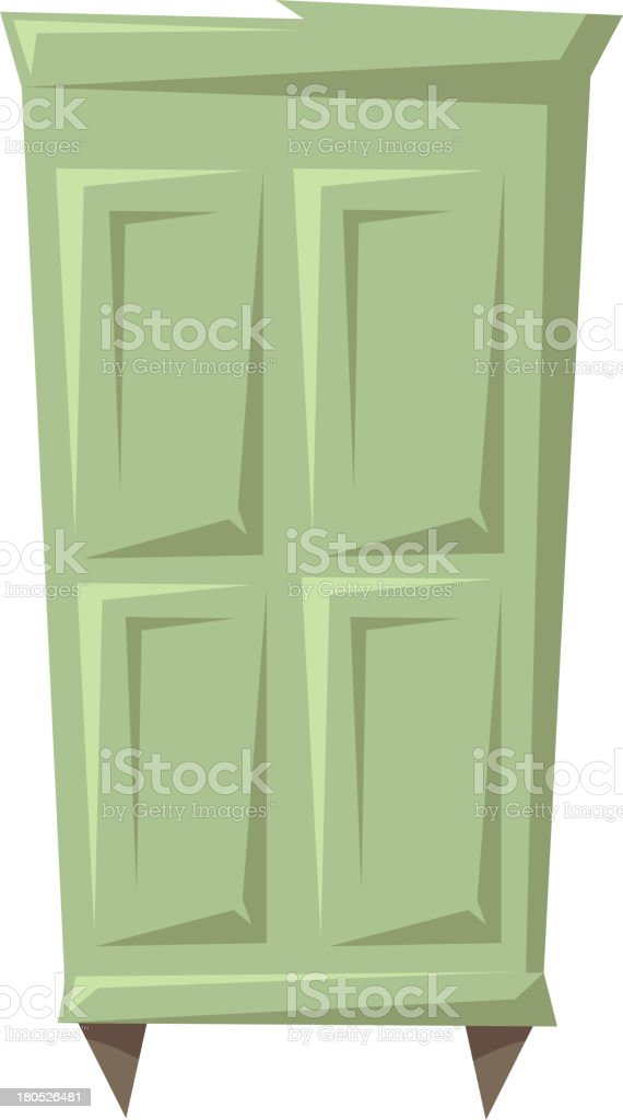 Wardrobe isolated on a white backgrounds royalty-free stock vector art