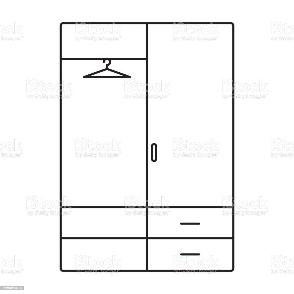 wardrobe line icon wardrobe line icon - stockowe grafiki wektorowe i więcej obrazów azerbejdżan royalty-free