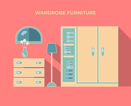 Wardrobe set of furniture.