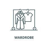 istock Wardrobe vector line icon, linear concept, outline sign, symbol 1149826725