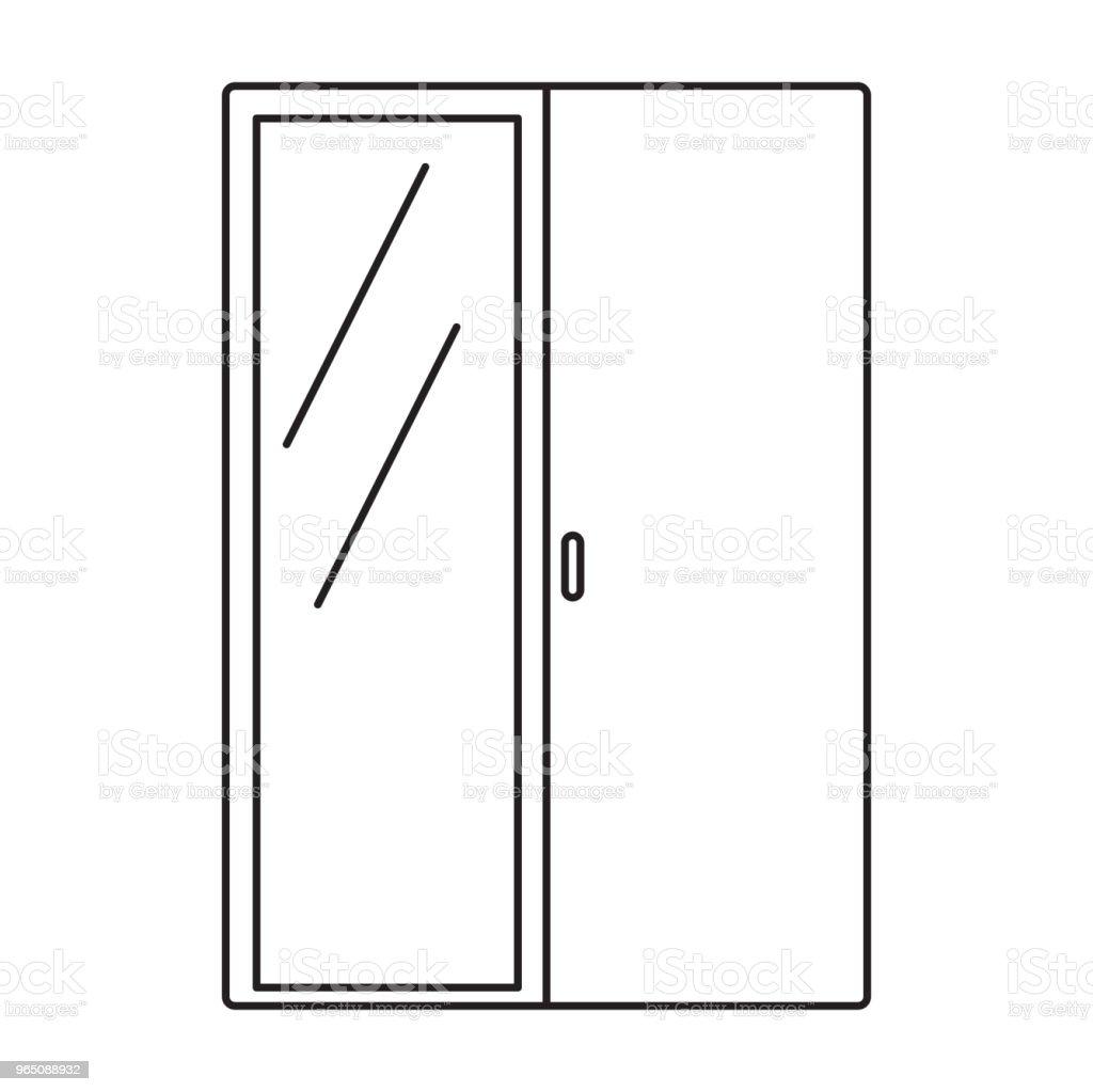wardrobe with mirror icon wardrobe with mirror icon - stockowe grafiki wektorowe i więcej obrazów akta royalty-free