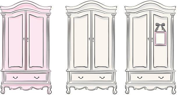 Wardrobes vector art illustration