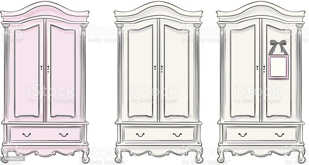 Wardrobes vector art illustration