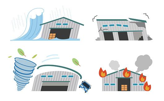 Warehouse disaster disaster prevention