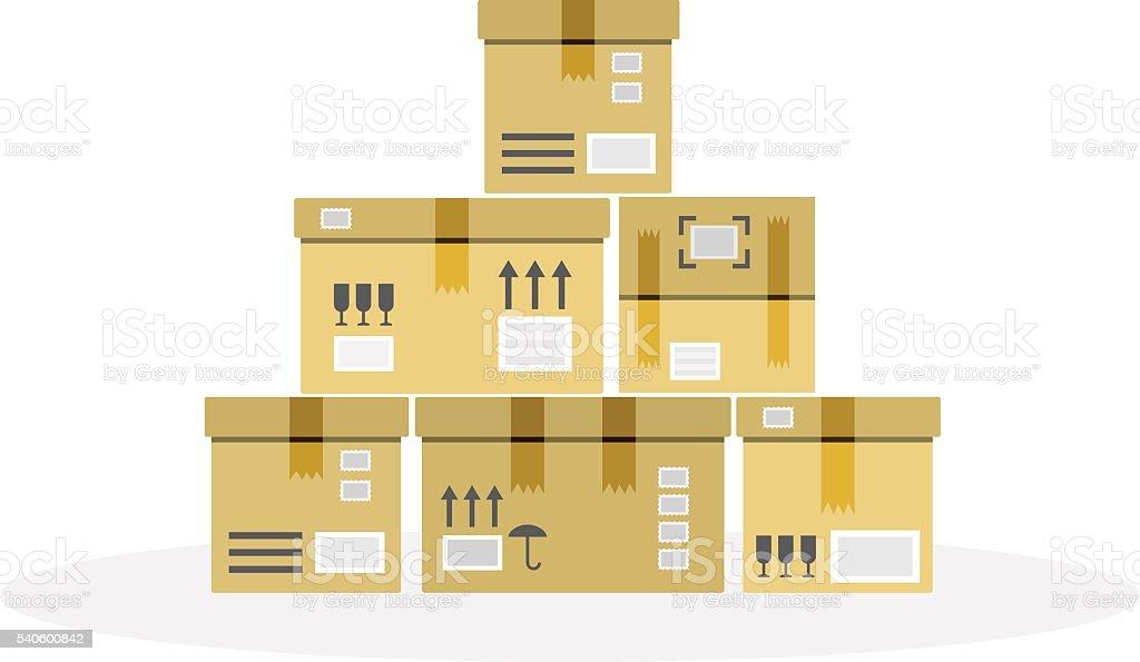 warehouse flat style vector art illustration