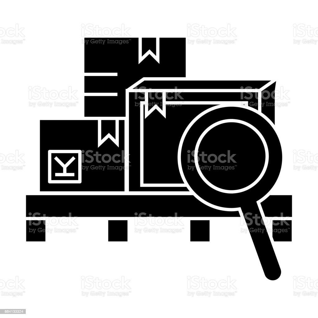 warehouse  icon, vector illustration, sign on isolated background royalty-free warehouse icon vector illustration sign on isolated background stock vector art & more images of blue