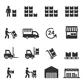 warehouse icon vector