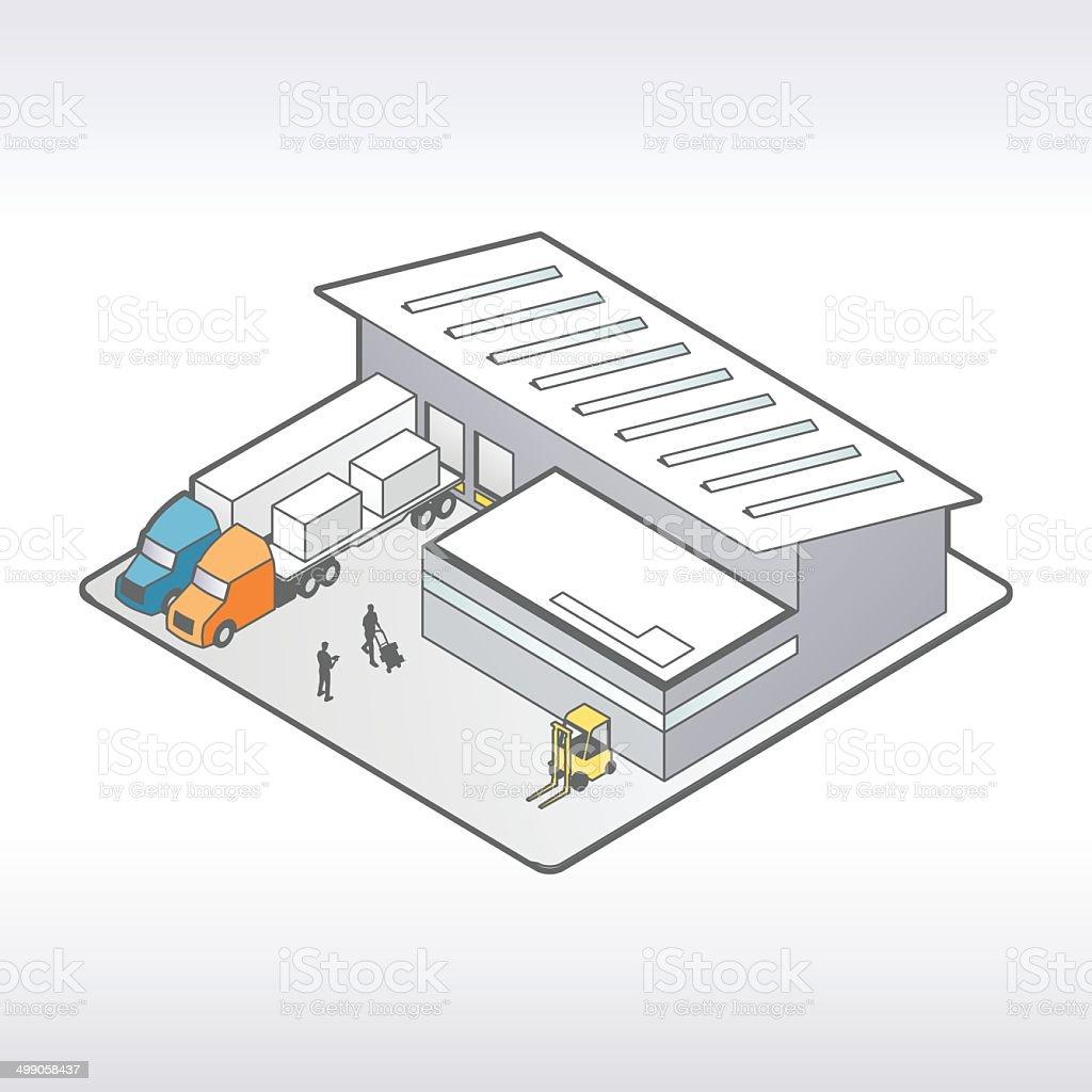 Warehouse Illustration Isometric Stock Vector Art & More ...